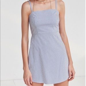 Urban Outfitters Blue and White Striped Dress